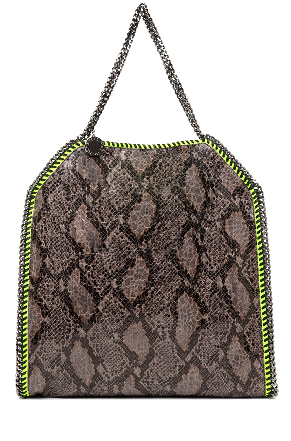 Image 1 of Stella McCartney Falabella Large Faux Python Tote in Grey