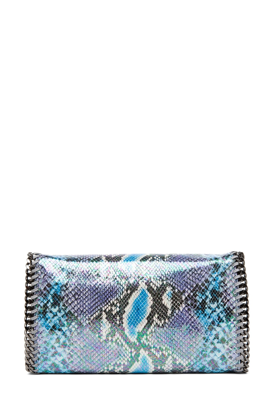 Image 2 of Stella McCartney Falabella Oleografic Python Clutch in Navy