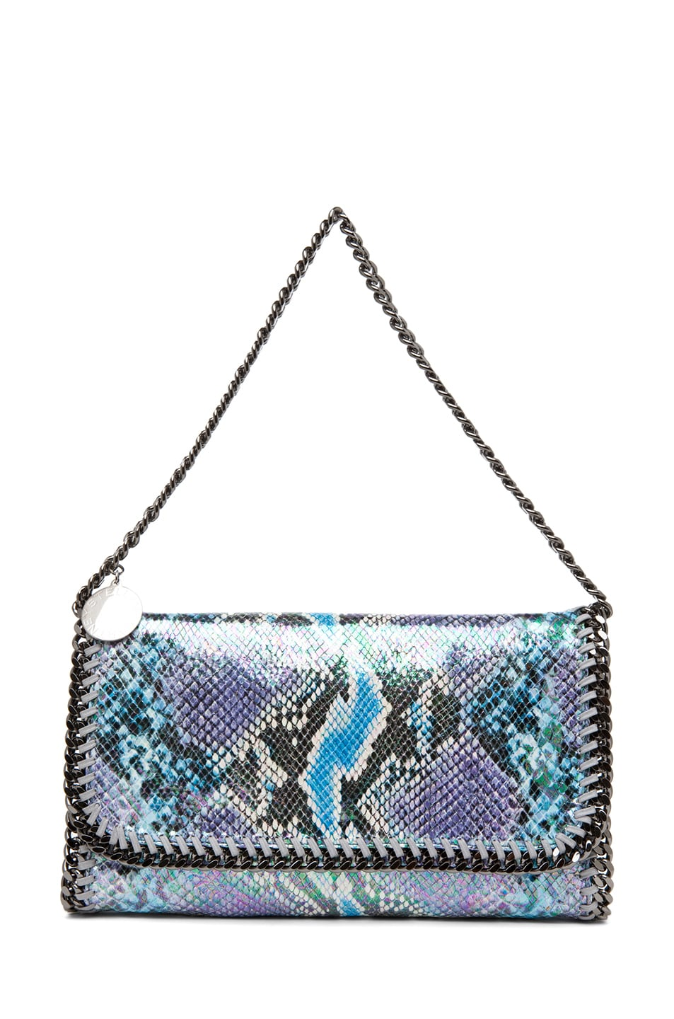 Image 5 of Stella McCartney Falabella Oleografic Python Clutch in Navy