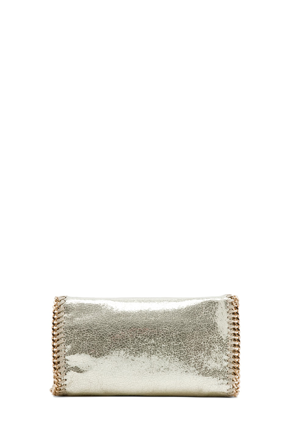 Image 2 of Stella McCartney Metallic Crackle Clutch in Platinum