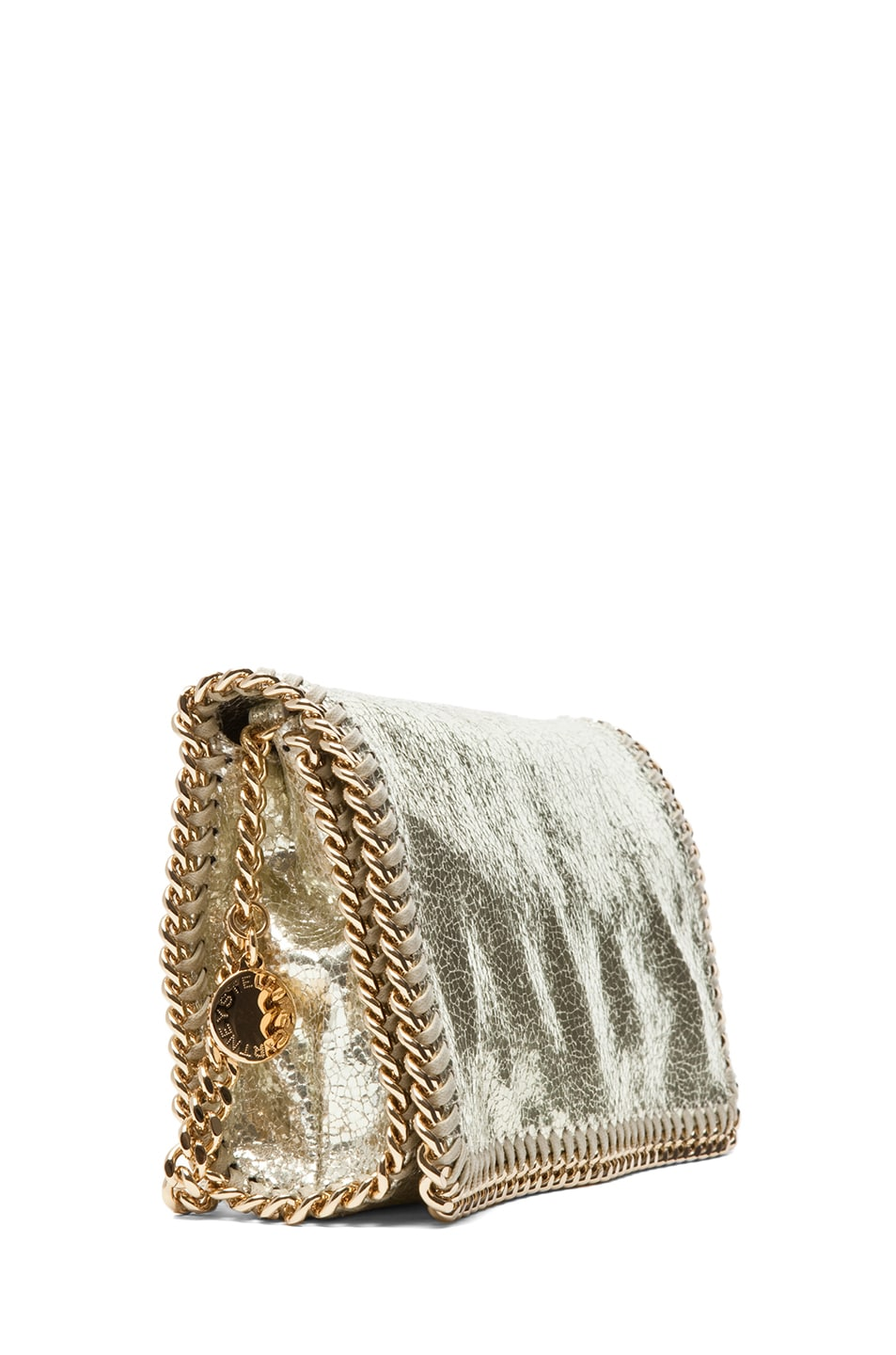 Image 3 of Stella McCartney Metallic Crackle Clutch in Platinum