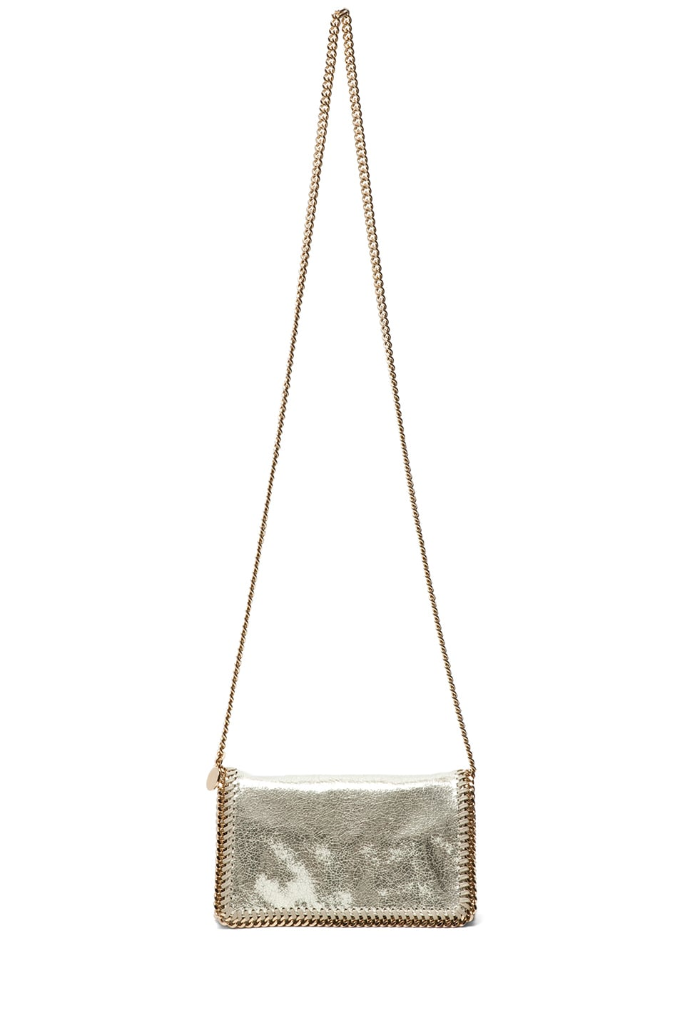 Image 4 of Stella McCartney Metallic Crackle Clutch in Platinum