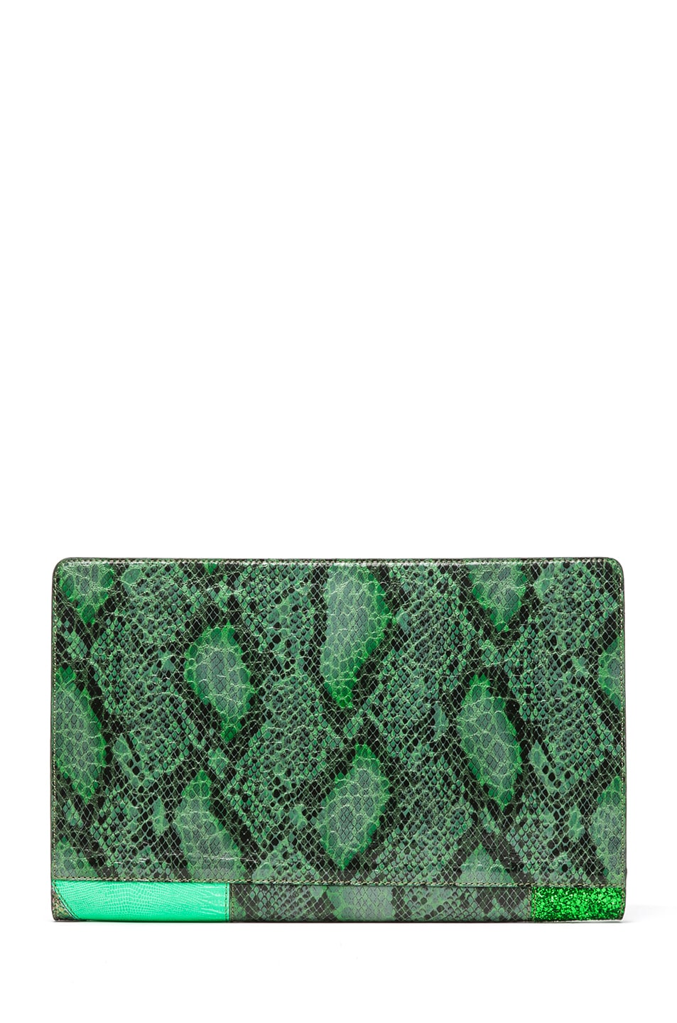Image 2 of Stella McCartney Oversized Patchwork Clutch in Spearmint