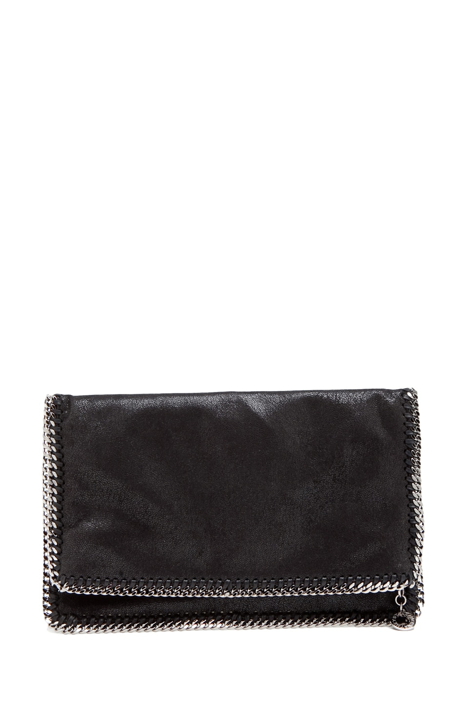 Image 1 of Stella McCartney Shaggy Deer Falabella Fold Over Clutch in Black