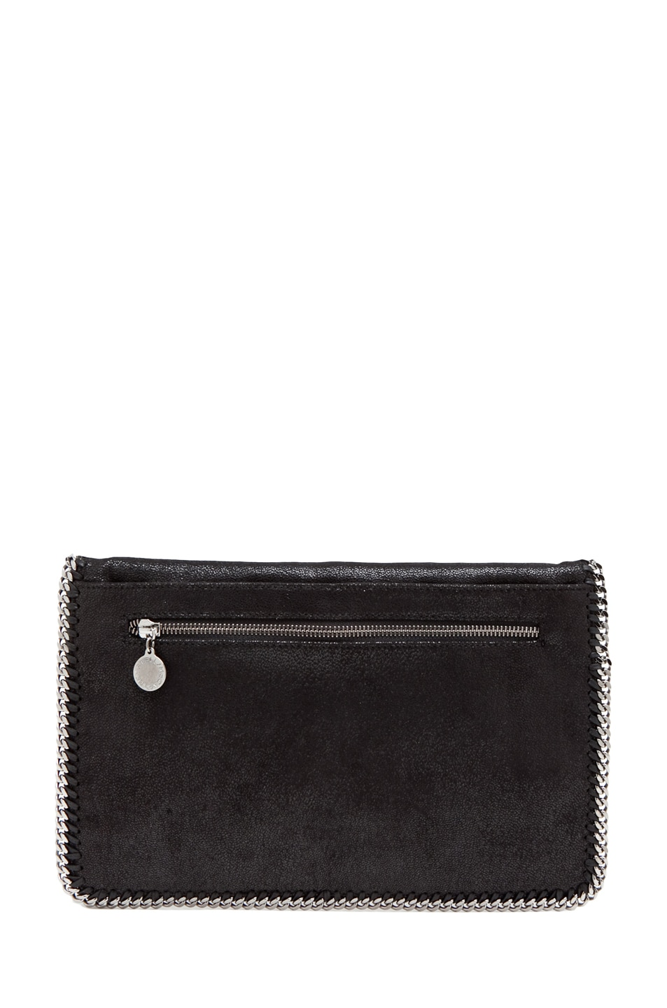 Image 2 of Stella McCartney Shaggy Deer Falabella Fold Over Clutch in Black