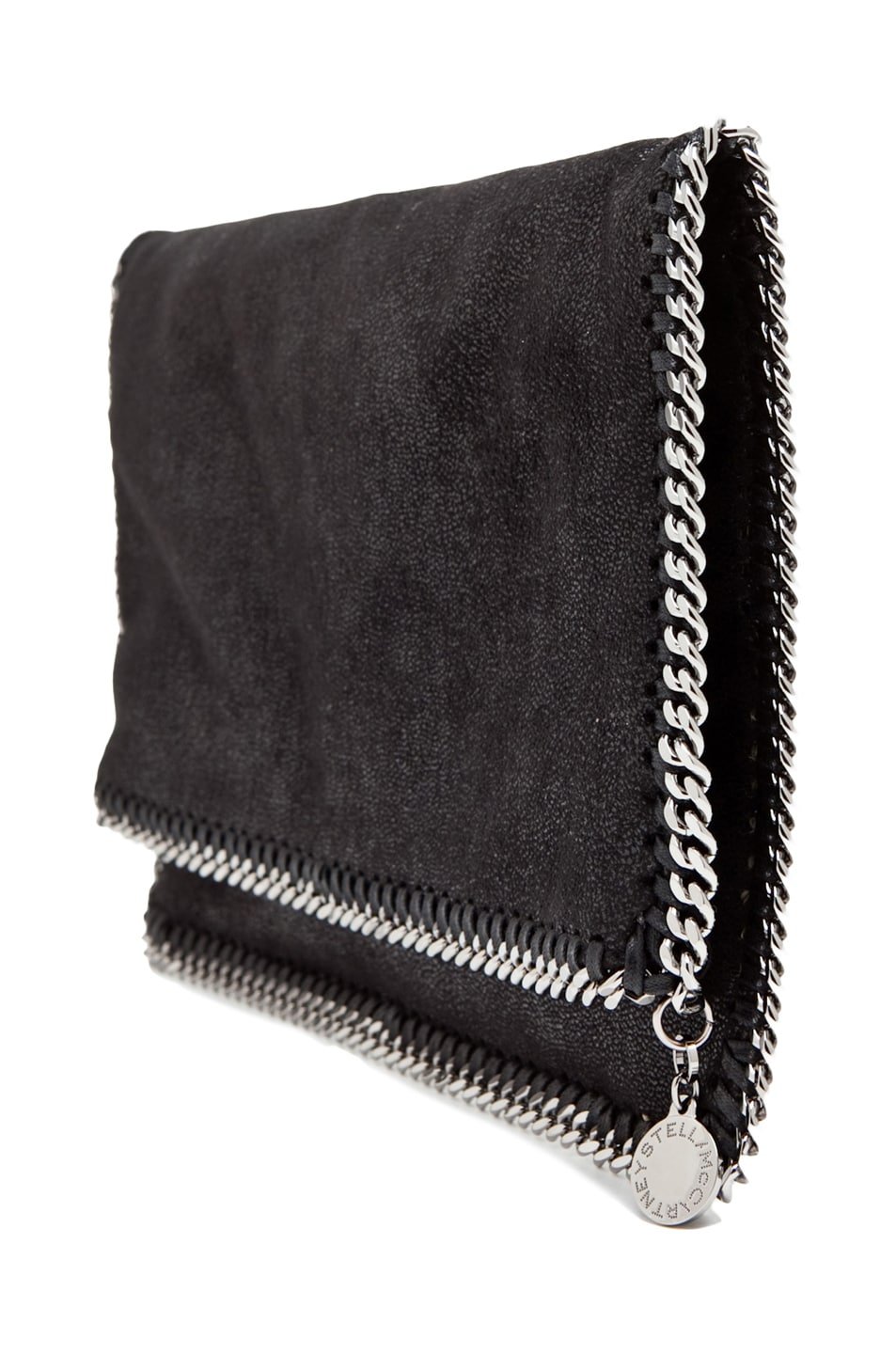 Image 3 of Stella McCartney Shaggy Deer Falabella Fold Over Clutch in Black
