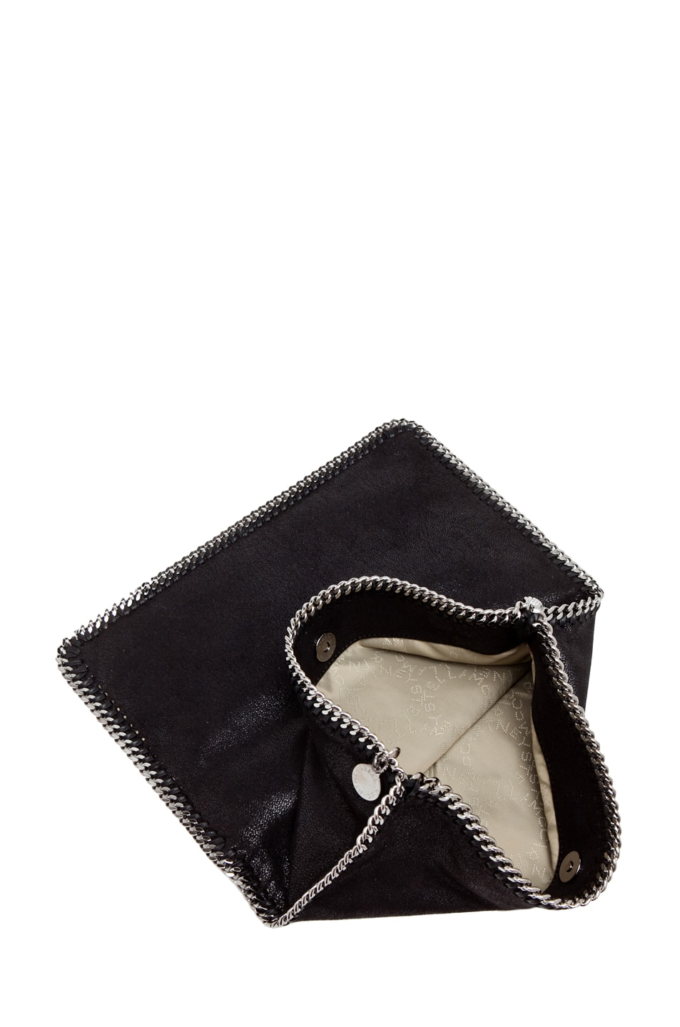 Image 4 of Stella McCartney Shaggy Deer Falabella Fold Over Clutch in Black