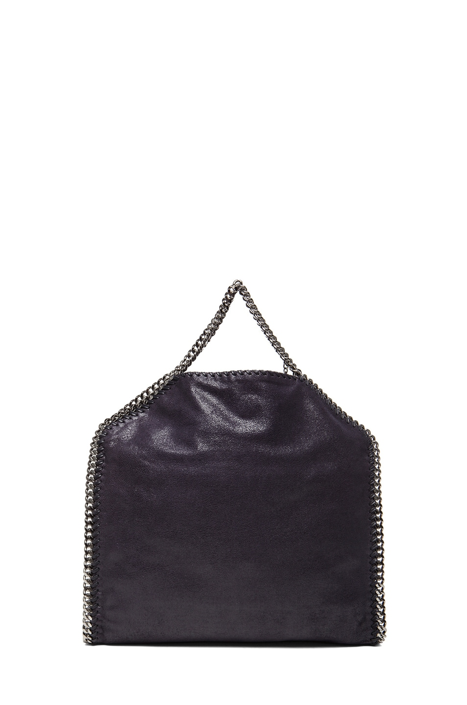 Image 3 of Stella McCartney Small Falabella Fold Over Tote in Navy Blue