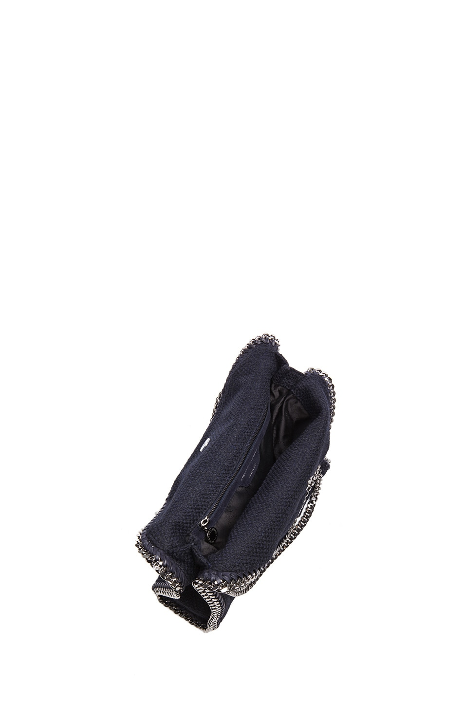 Image 5 of Stella McCartney Small Falabella Fold Over Tweed Tote in Navy