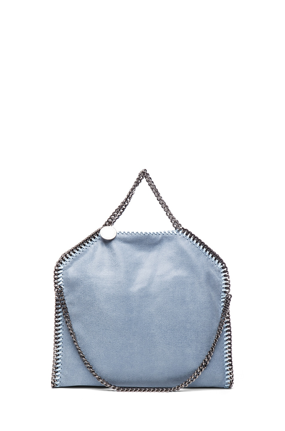 Image 2 of Stella McCartney Small Falabella Fold Over Tote in Duck Blue