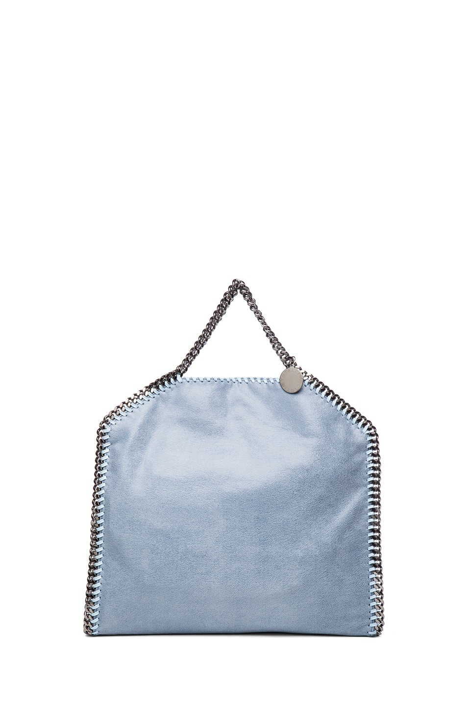 Image 3 of Stella McCartney Small Falabella Fold Over Tote in Duck Blue