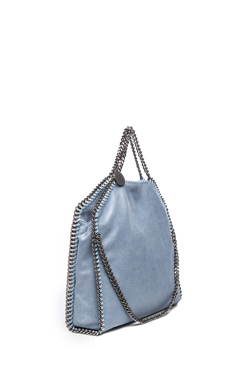 Image 4 of Stella McCartney Small Falabella Fold Over Tote in Duck Blue