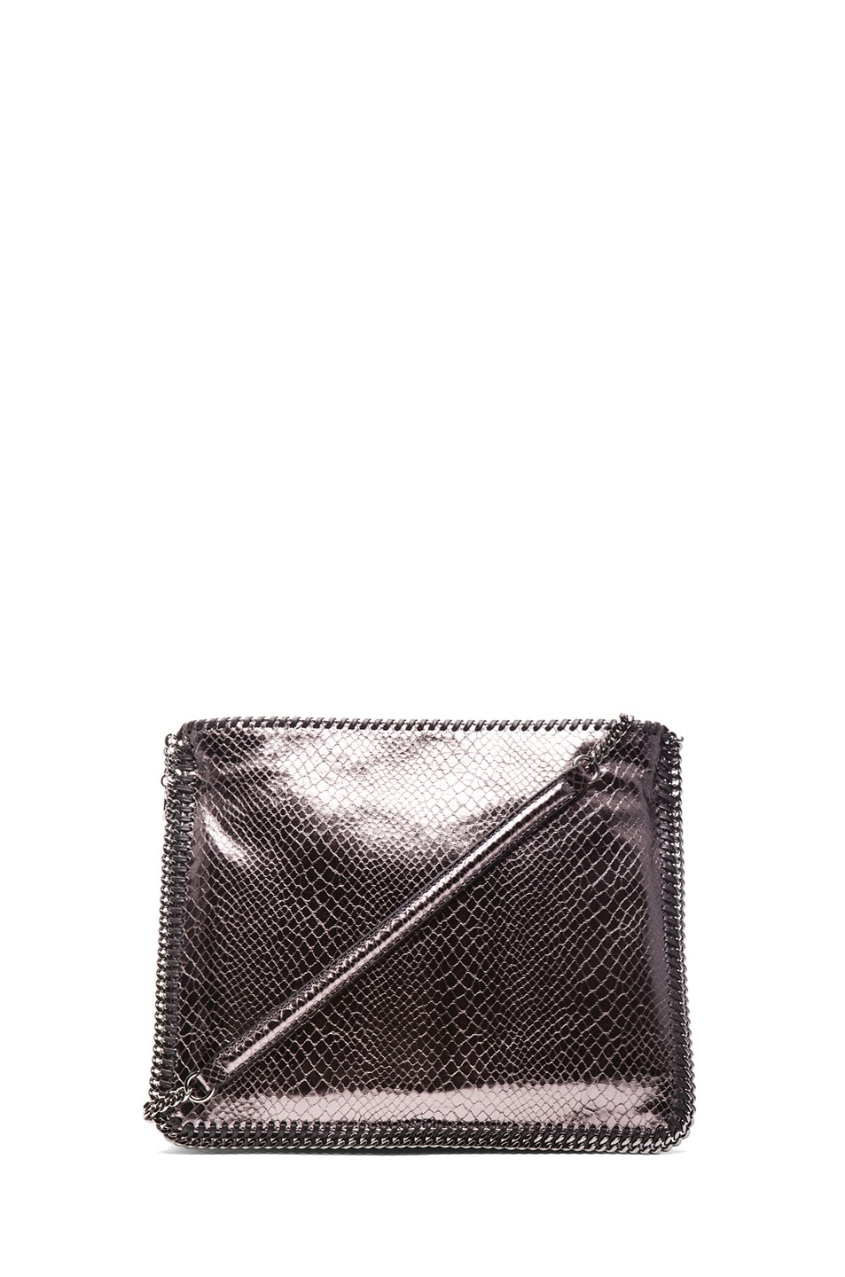 Image 1 of Stella McCartney Metallic Falabella Shoulder Bag in Grey