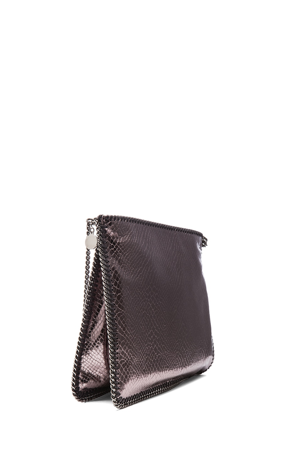 Image 3 of Stella McCartney Metallic Falabella Shoulder Bag in Grey