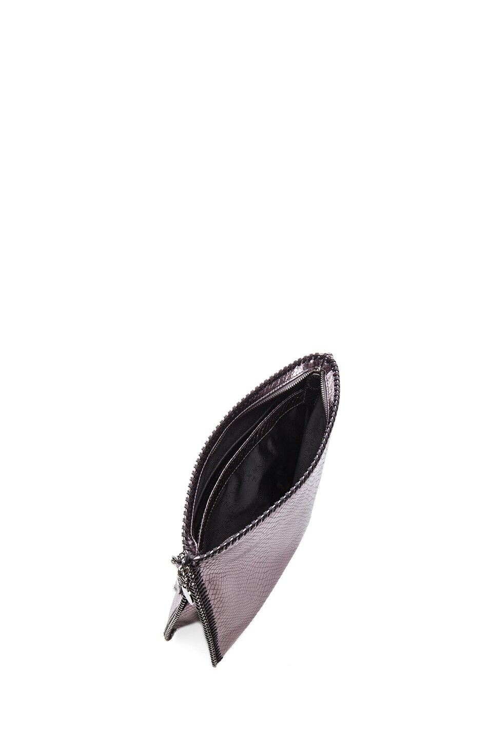 Image 4 of Stella McCartney Metallic Falabella Shoulder Bag in Grey