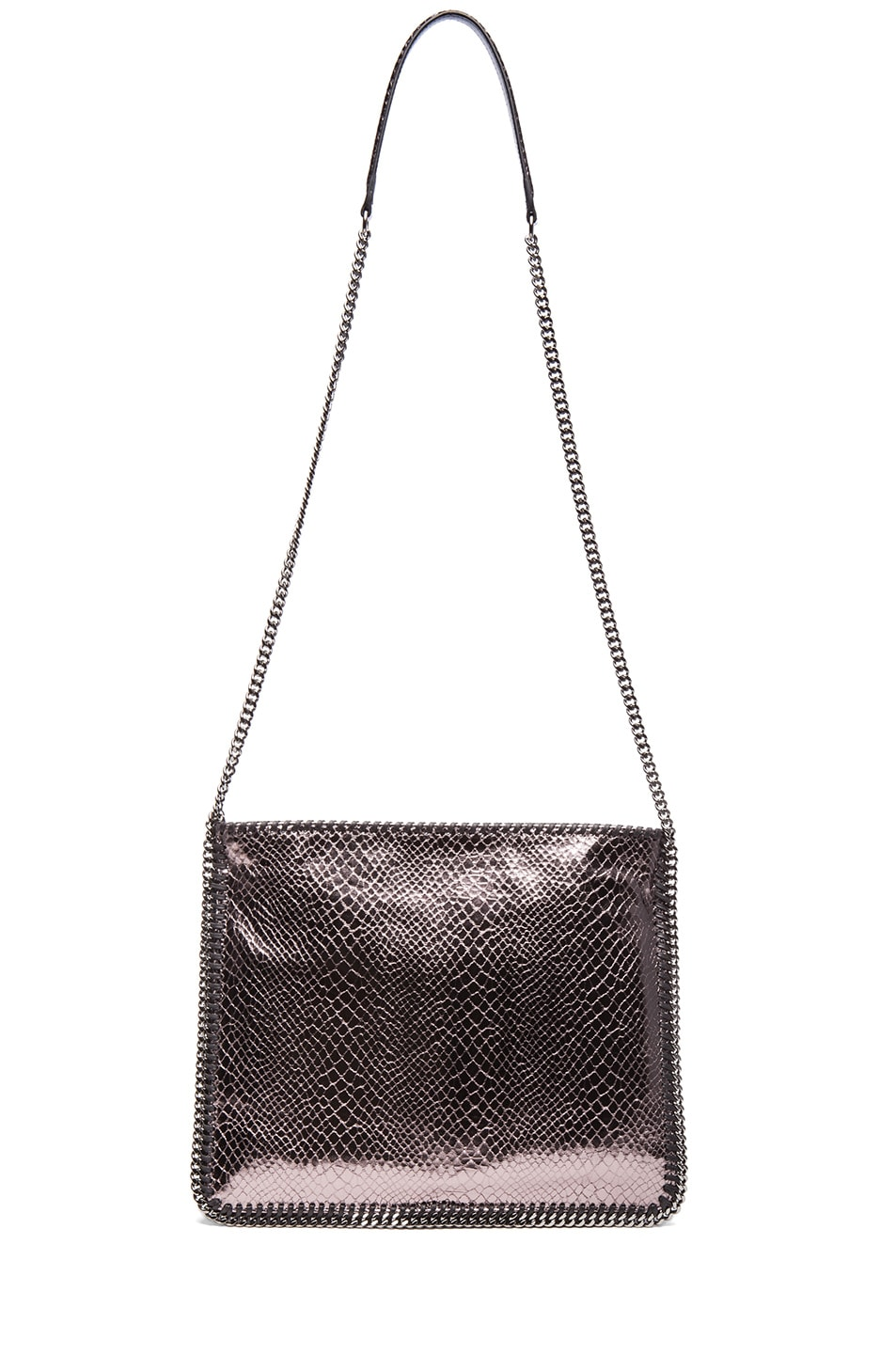 Image 5 of Stella McCartney Metallic Falabella Shoulder Bag in Grey