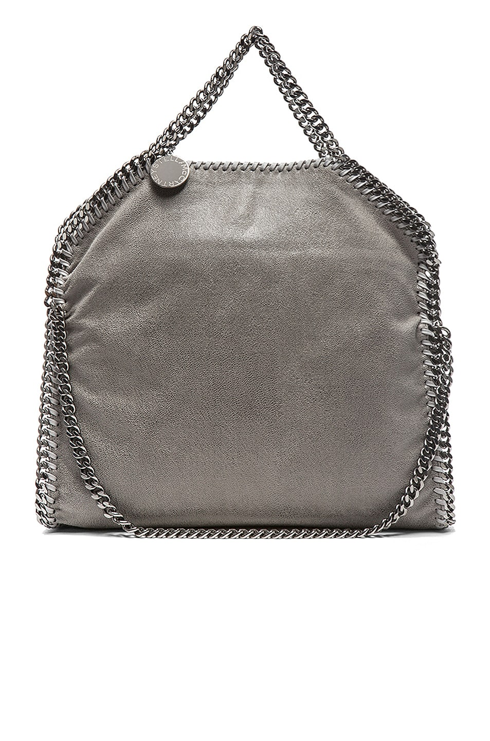 Image 3 of Stella McCartney Small Falabella Fold Over Tote in Light Grey