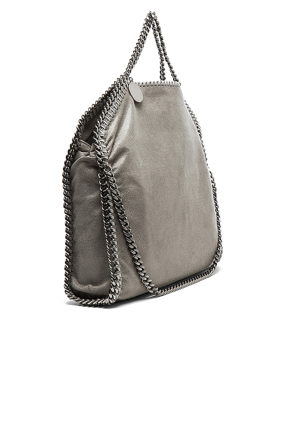 Image 5 of Stella McCartney Small Falabella Fold Over Tote in Light Grey