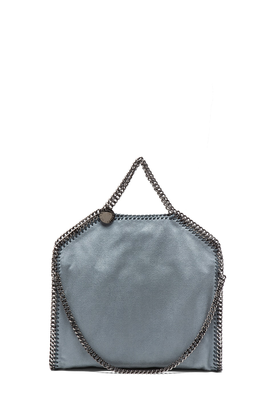 Image 2 of Stella McCartney Small Falabella Shaggy Deer Fold Over Tote in Sky