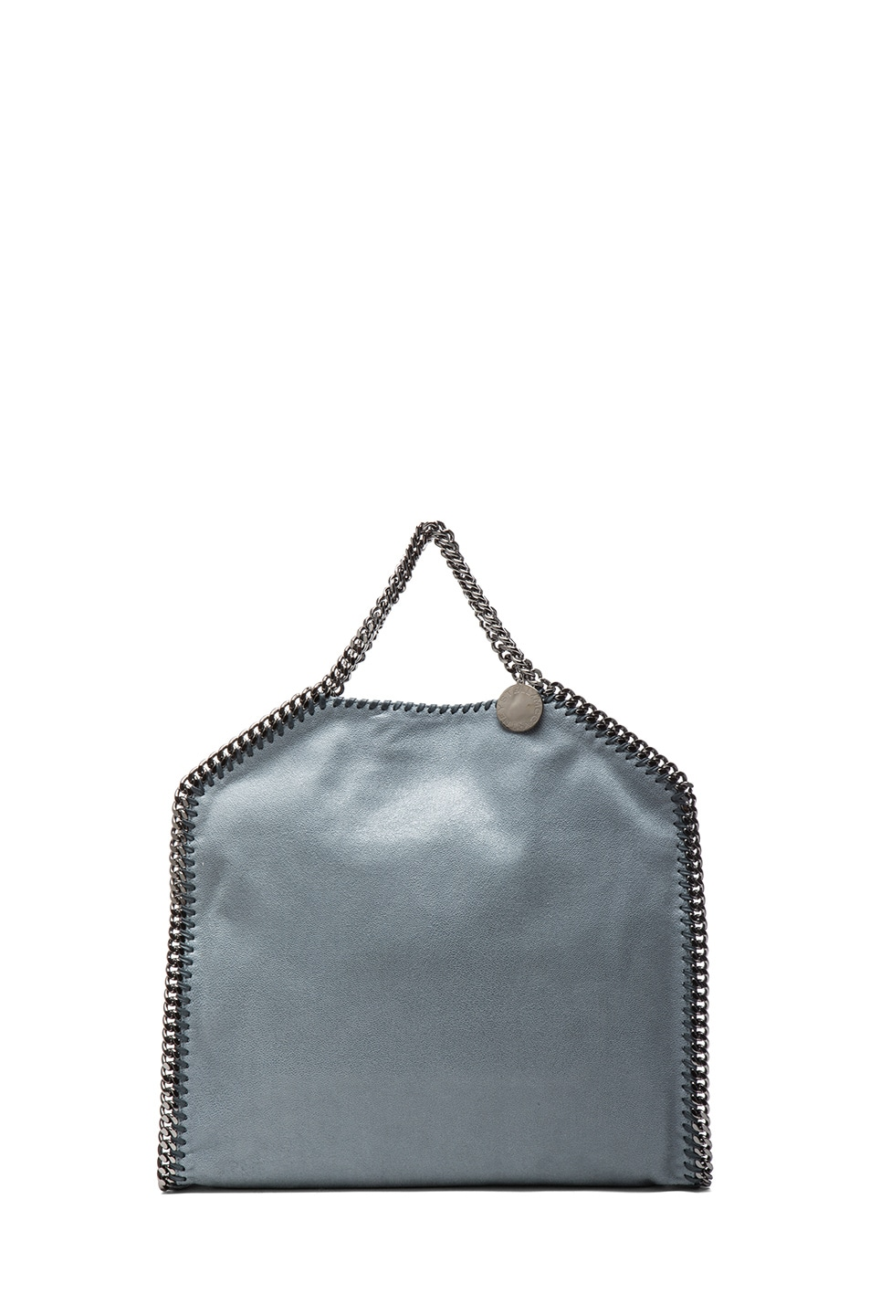 Image 3 of Stella McCartney Small Falabella Shaggy Deer Fold Over Tote in Sky