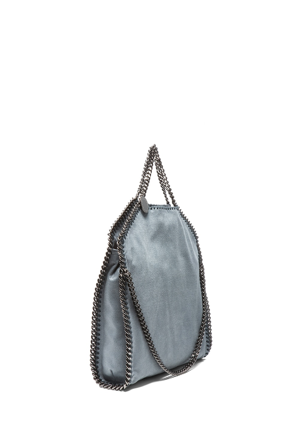 Image 4 of Stella McCartney Small Falabella Shaggy Deer Fold Over Tote in Sky