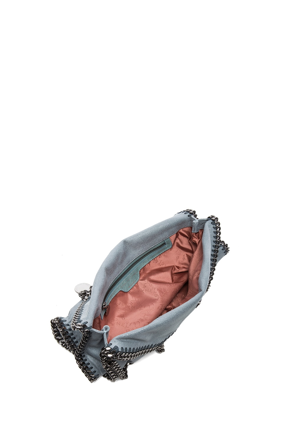 Image 5 of Stella McCartney Small Falabella Shaggy Deer Fold Over Tote in Sky
