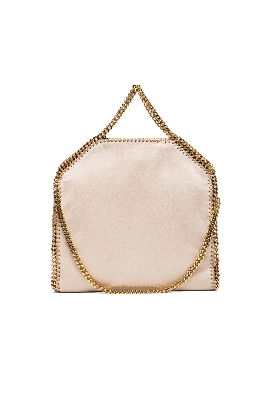 Image 3 of Stella McCartney Small Falabella Fold Over Tote/Gold in Nude