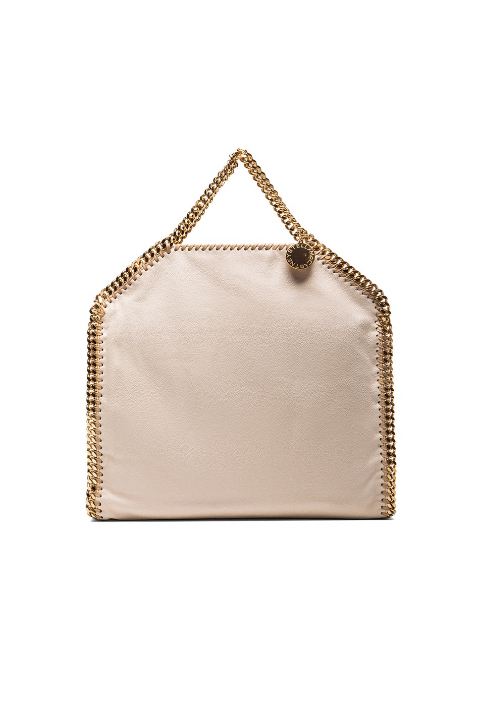 Image 4 of Stella McCartney Small Falabella Fold Over Tote/Gold in Nude