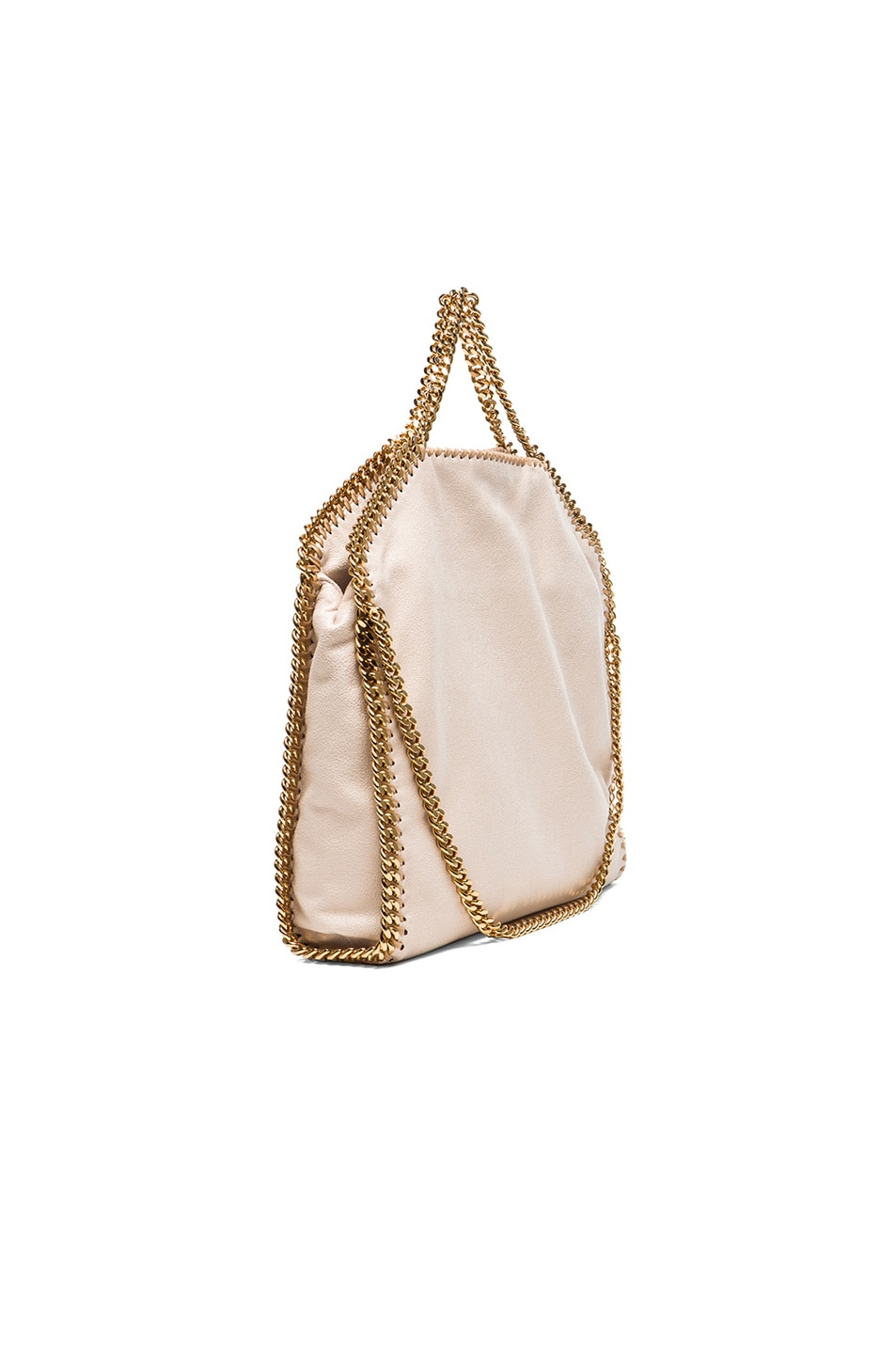 Image 5 of Stella McCartney Small Falabella Fold Over Tote/Gold in Nude