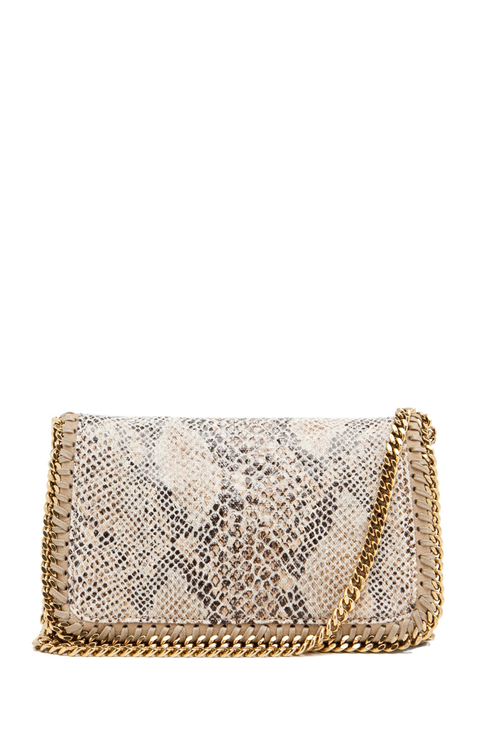 Image 1 of Stella McCartney Eco Snake Clutch in Caramel