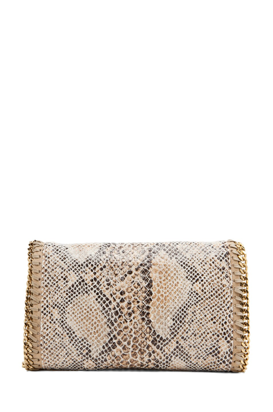 Image 2 of Stella McCartney Eco Snake Clutch in Caramel