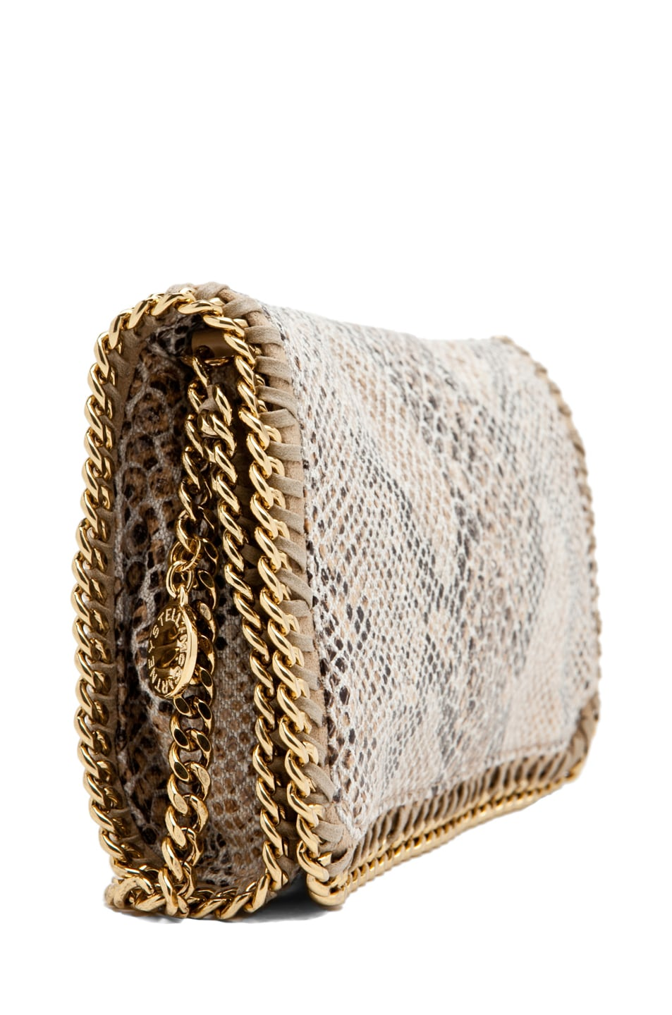 Image 3 of Stella McCartney Eco Snake Clutch in Caramel