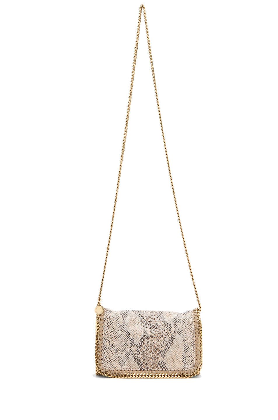 Image 5 of Stella McCartney Eco Snake Clutch in Caramel