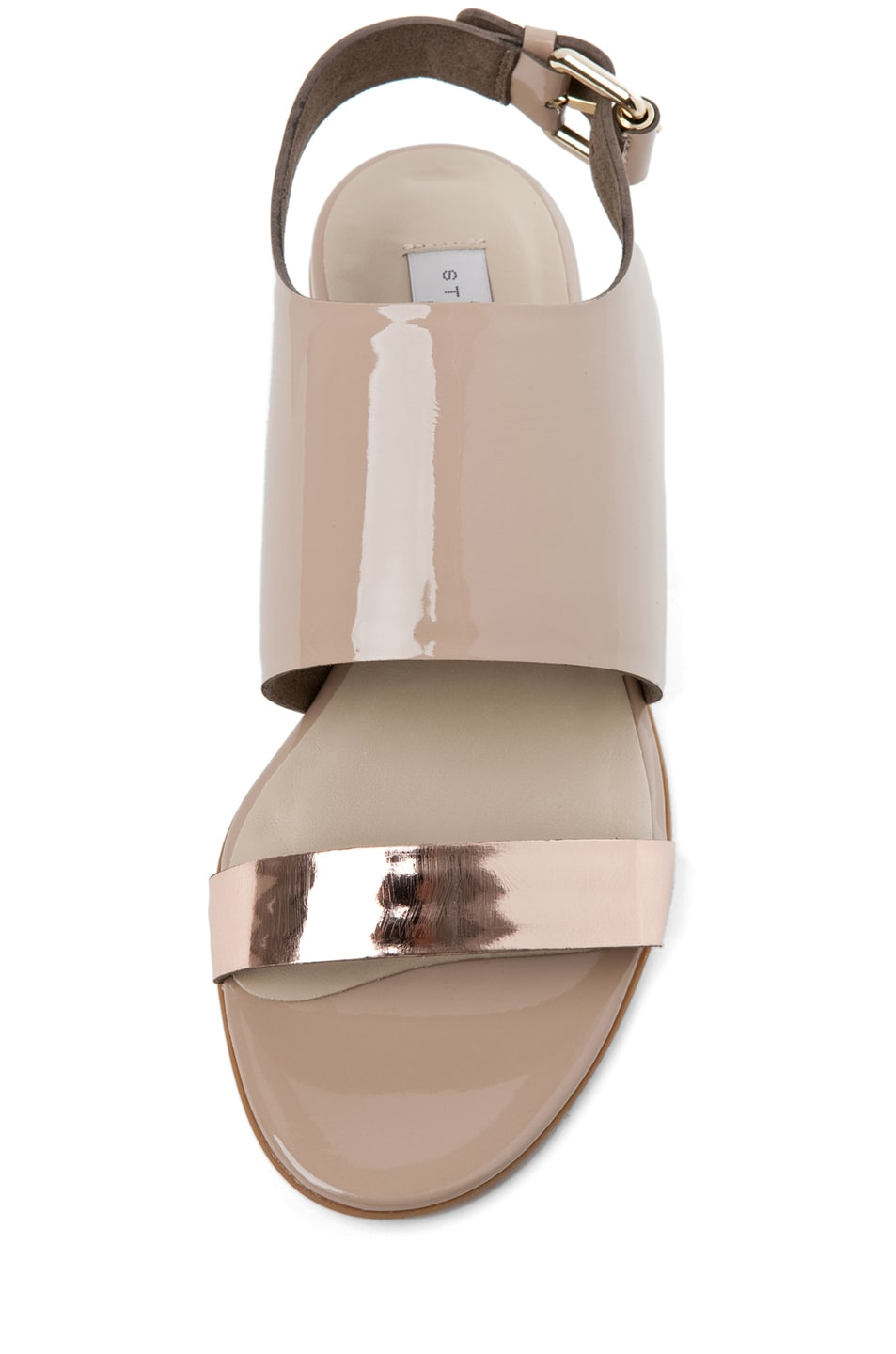 Image 4 of Stella McCartney Sandal in Rose Gold & Desert