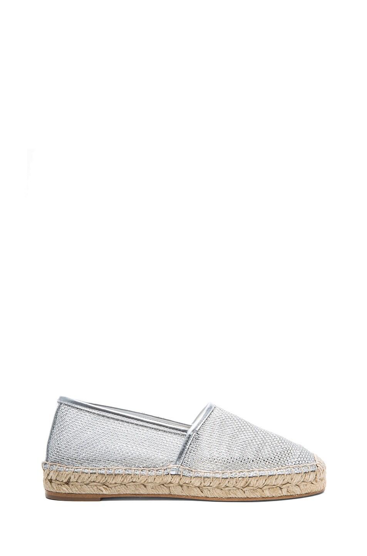 Image 1 of Stella McCartney Scarpa Tess Mesh Espadrilles in Silver