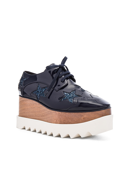 Image 2 of Stella McCartney Elyse Star Platform Shoes in Night Blue