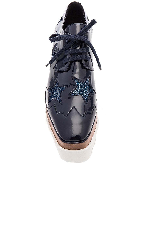 Image 4 of Stella McCartney Elyse Star Platform Shoes in Night Blue