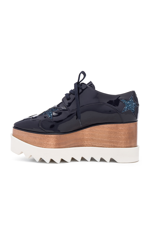 Image 5 of Stella McCartney Elyse Star Platform Shoes in Night Blue
