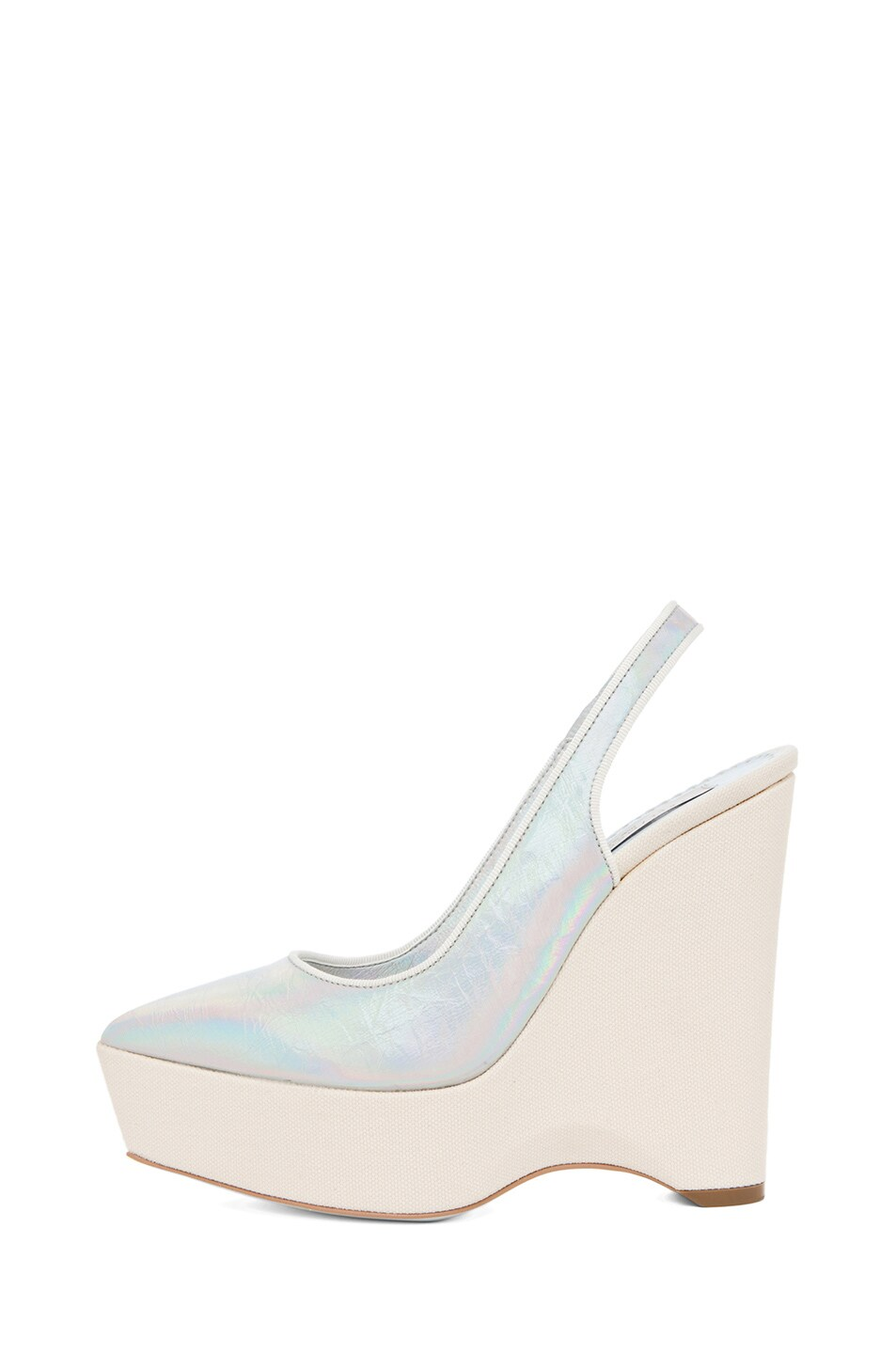 Image 1 of Stella McCartney Sling Back Wedge in Prisma & White
