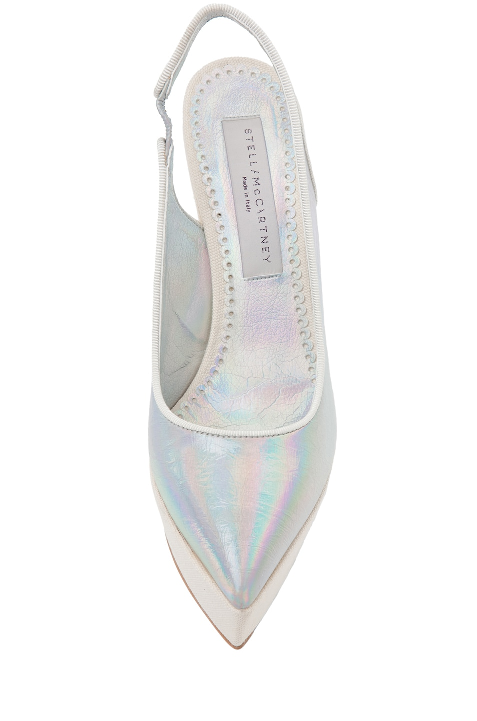 Image 4 of Stella McCartney Sling Back Wedge in Prisma & White
