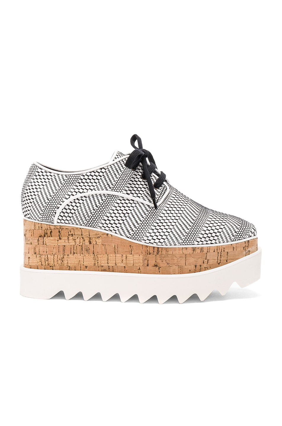 Stella Mccartney Leathers PLATFORM SHOES IN WHITE, CHECKERED & PLAID.