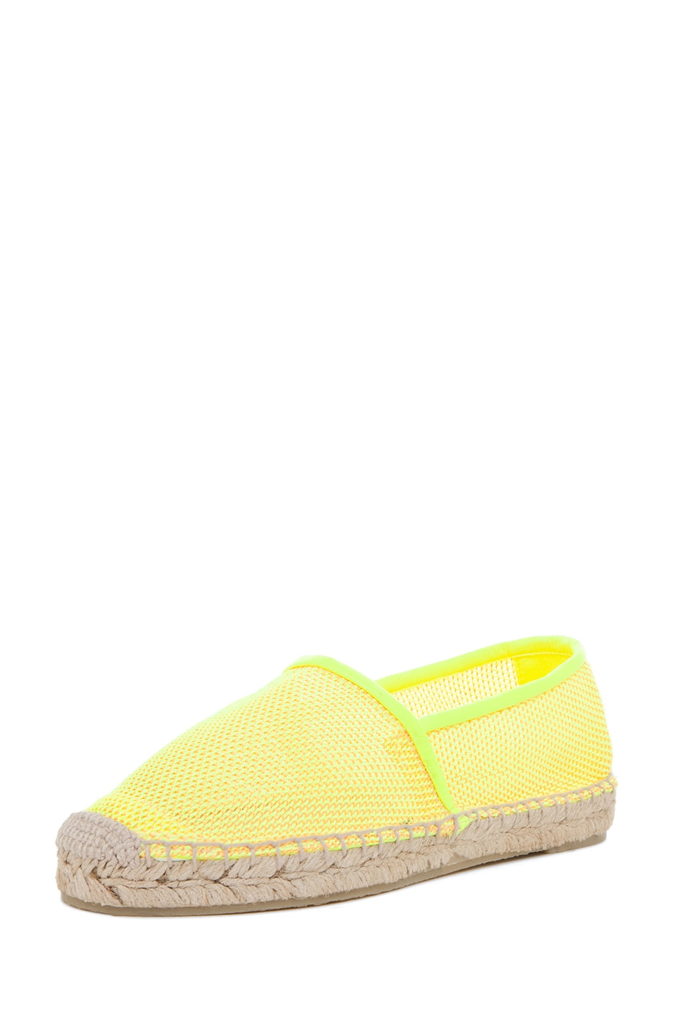 Image 2 of Stella McCartney Espadrille Flat in Neon Orange