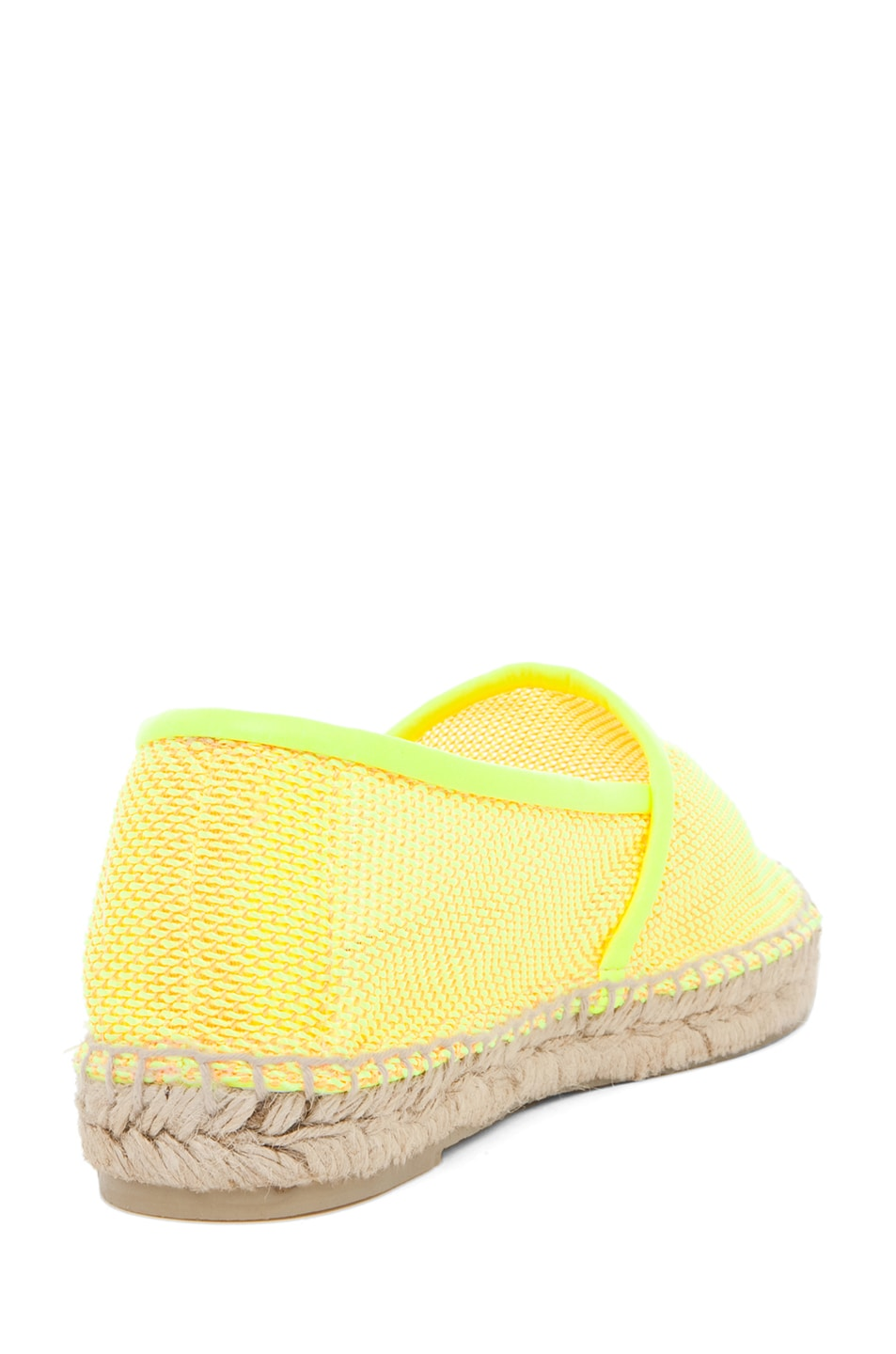 Image 3 of Stella McCartney Espadrille Flat in Neon Orange