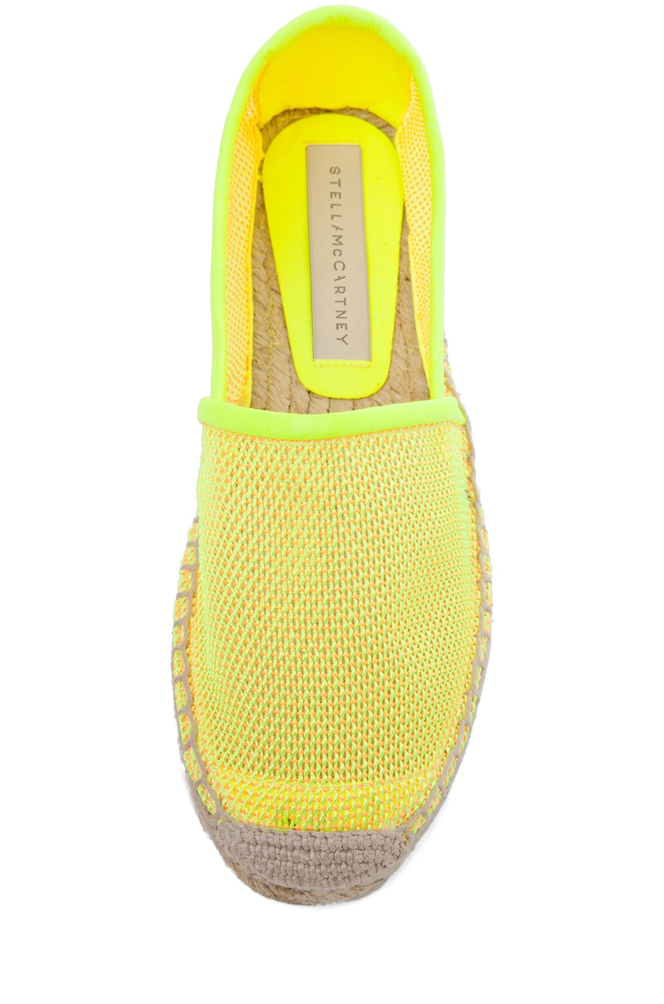 Image 4 of Stella McCartney Espadrille Flat in Neon Orange
