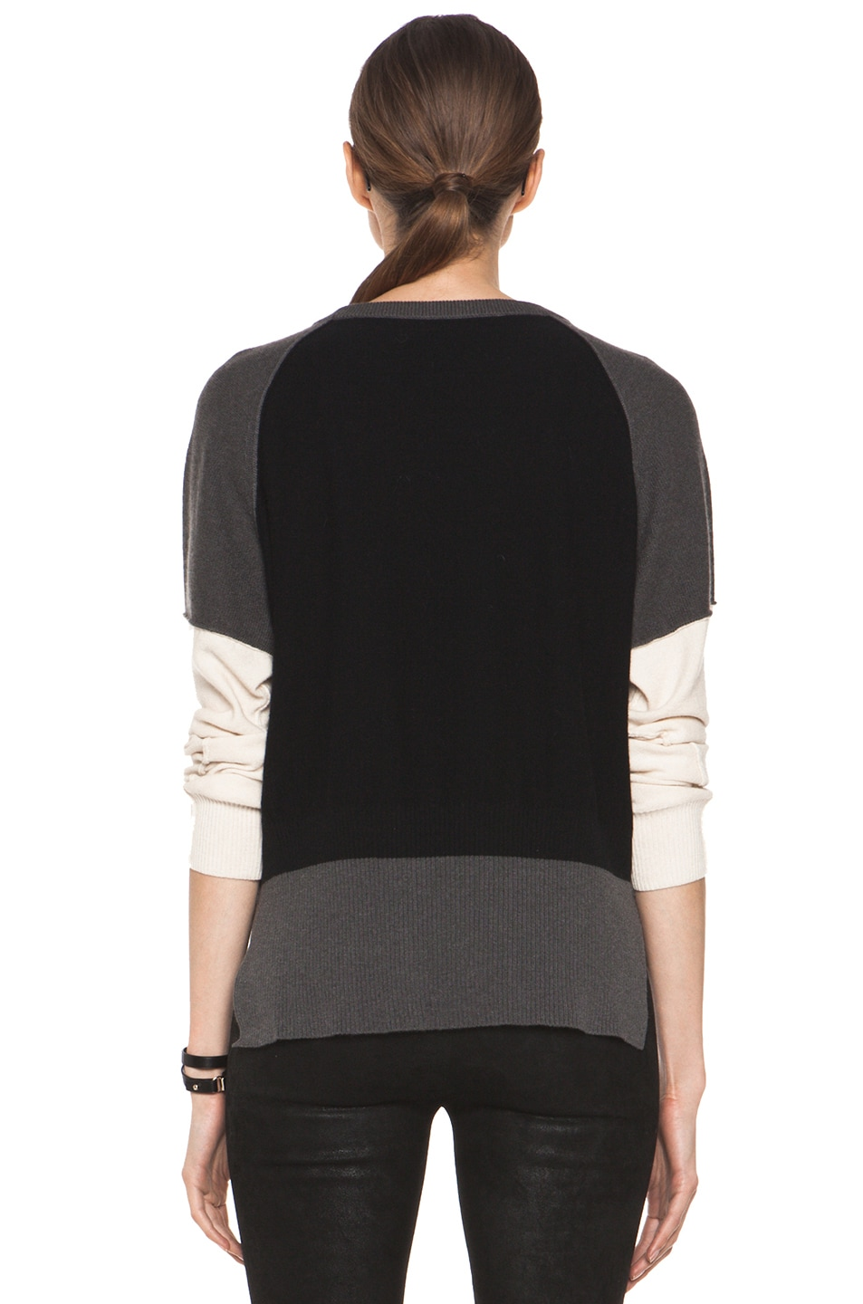 Image 4 of SONIA RYKIEL Color Block Sweater in Black