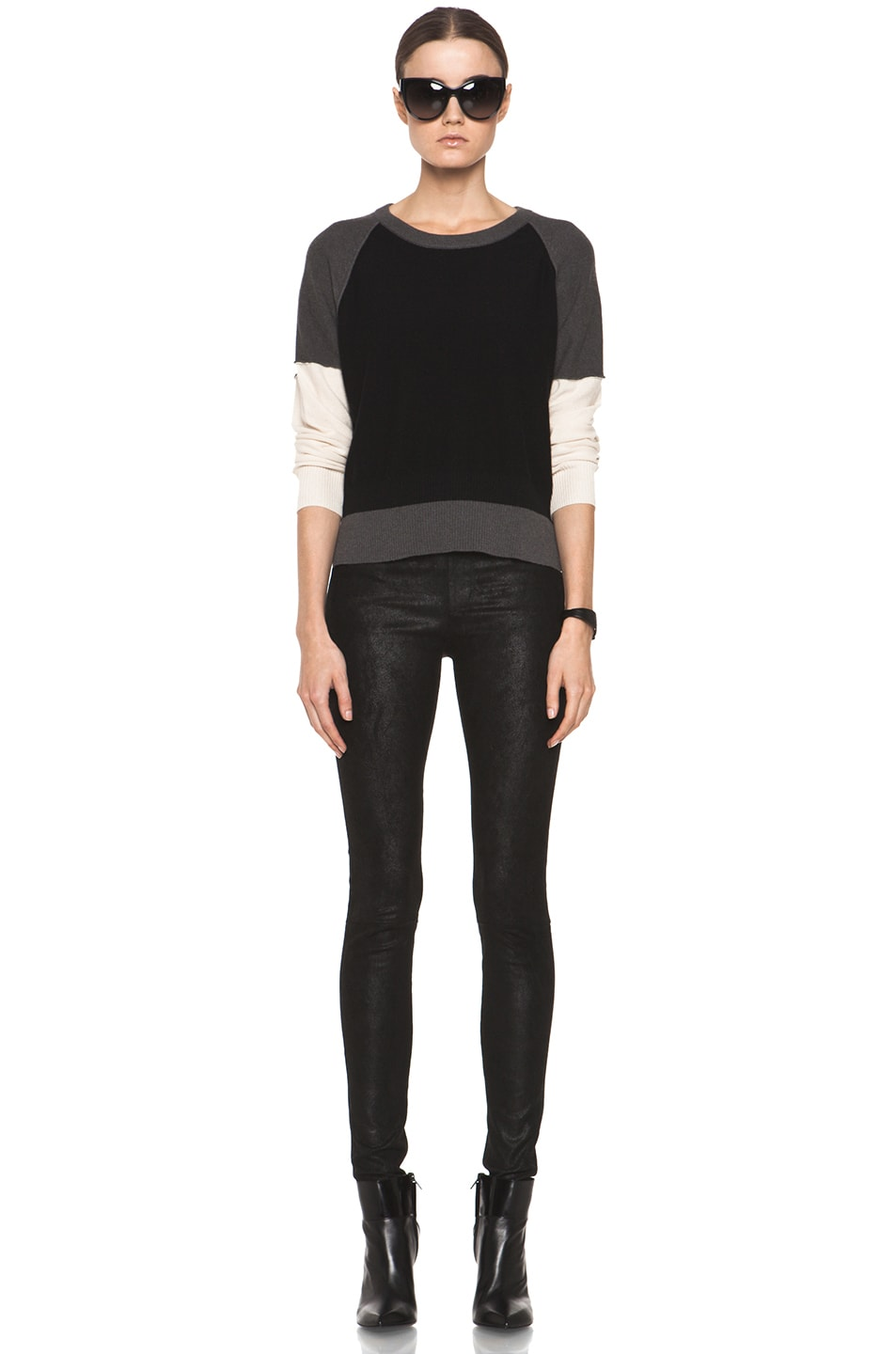 Image 5 of SONIA RYKIEL Color Block Sweater in Black