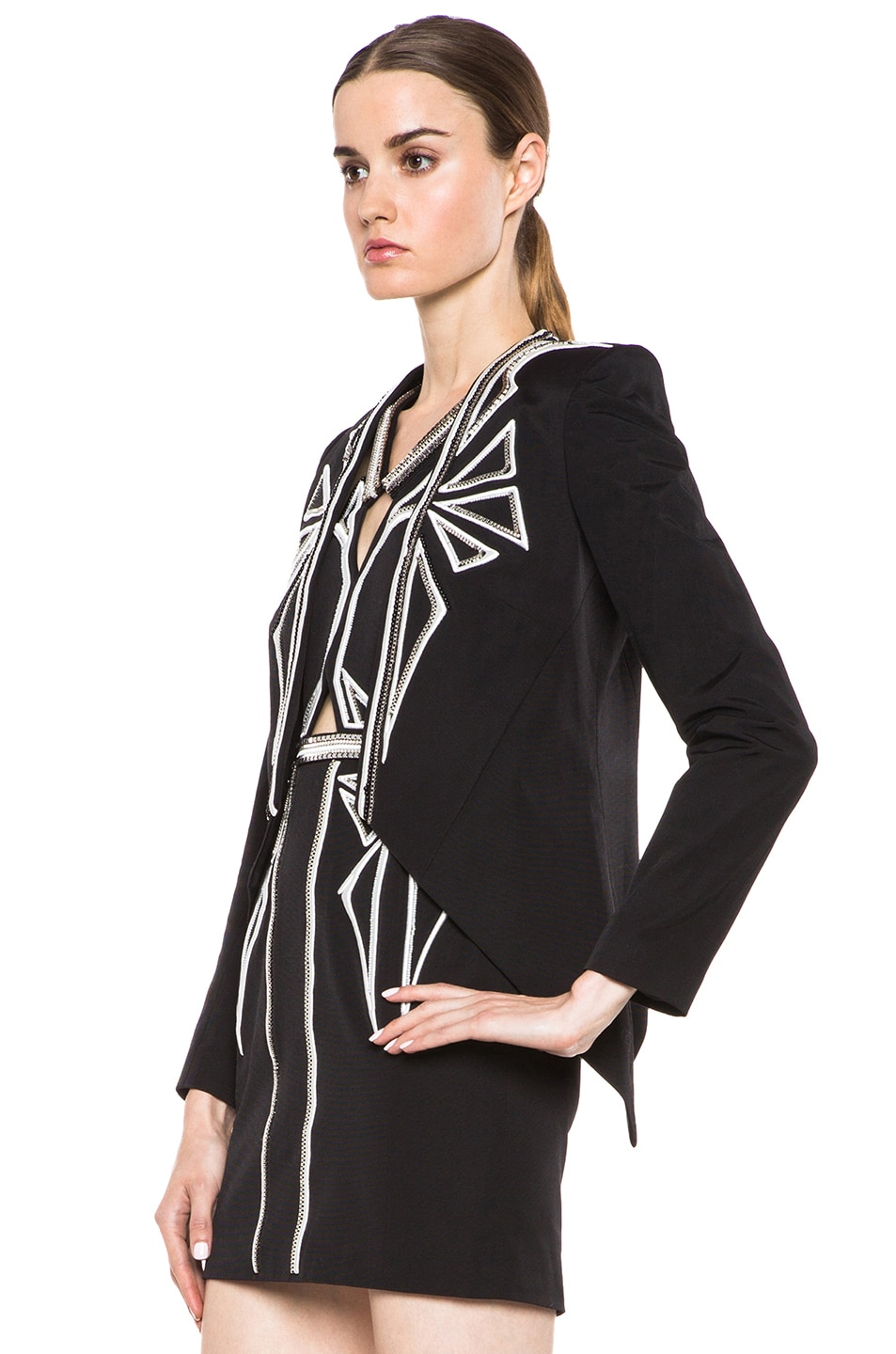 Image 2 of Sass & Bide Down to Earth Cotton-Blend Jacket in Black