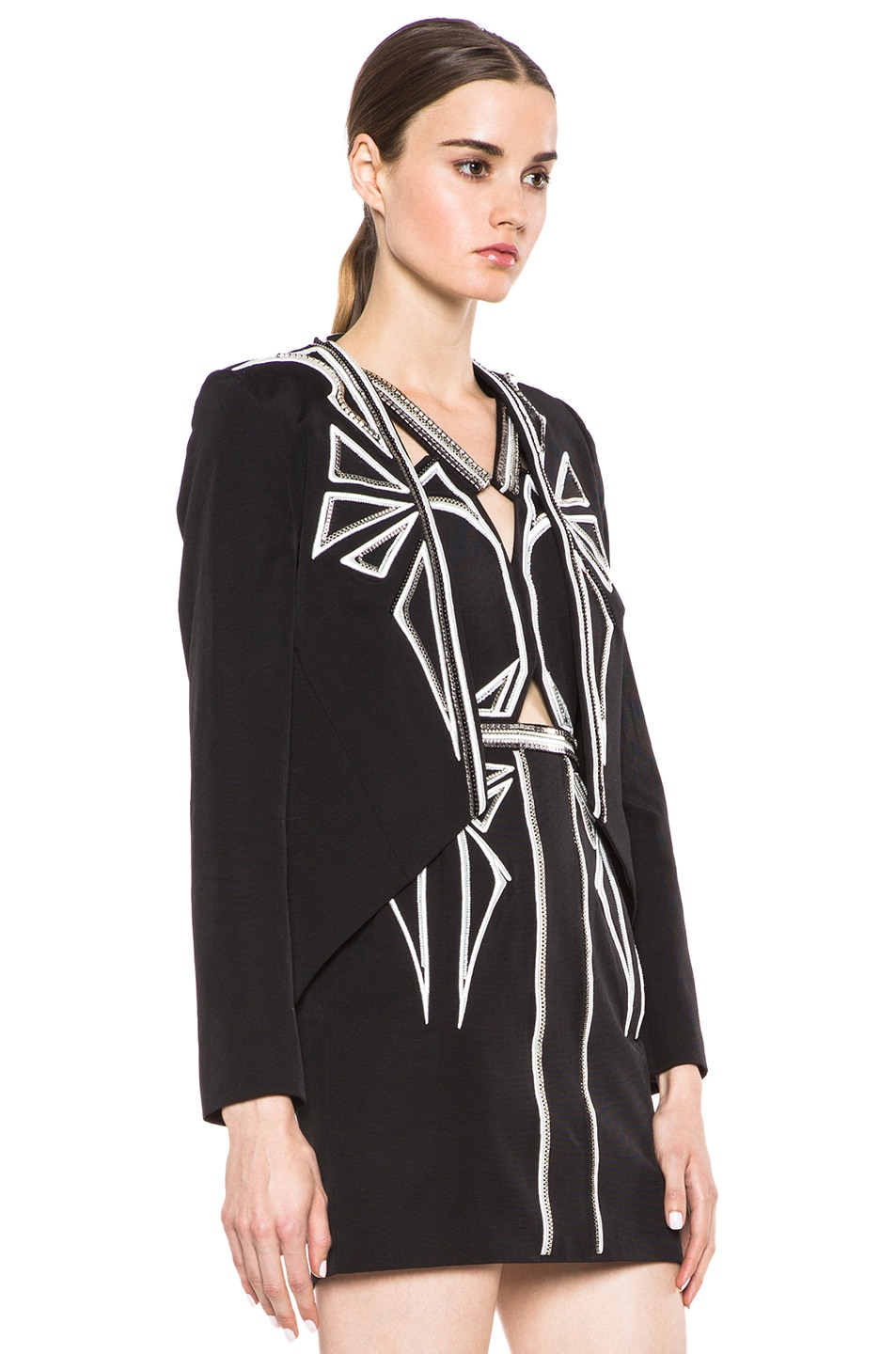 Image 3 of Sass & Bide Down to Earth Cotton-Blend Jacket in Black