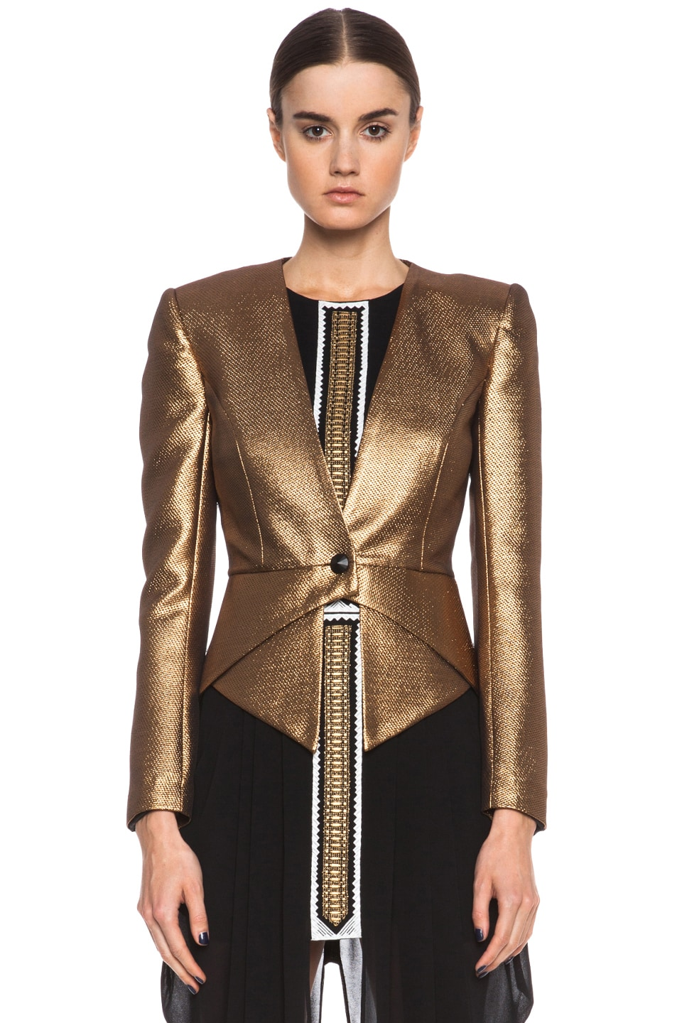 Image 2 of Sass & Bide The Art Scene Poly-Blend Jacket in Gold