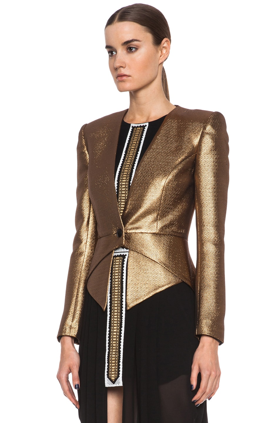 Image 3 of Sass & Bide The Art Scene Poly-Blend Jacket in Gold